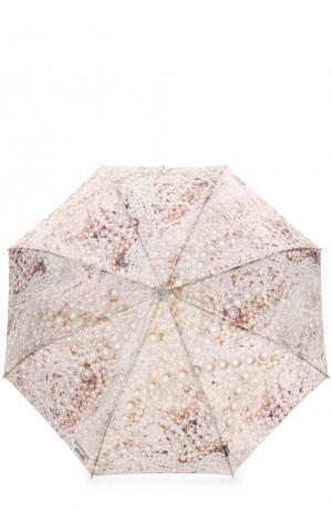 Складной зонт с принтом Moschino. Цвет: бежевый