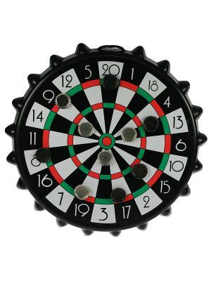 Игра-развлечение к пиву Магнитная мишень для пивных пробок Русские подарки. Цвет: черный, зеленый, красный