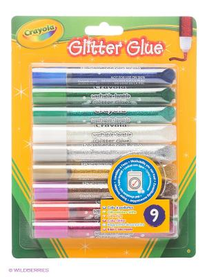 Клей с блестками для декорирования Crayola. Цвет: зеленый, желтый