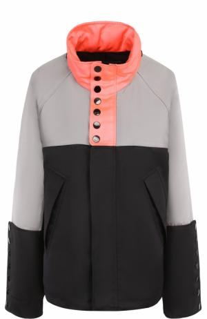 Куртка прямого кроя с контрастным воротником-стойкой Alexander Wang. Цвет: черный