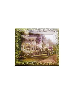 Ключница  20/25 Декарт. Цвет: зеленый, молочный, светло-коричневый