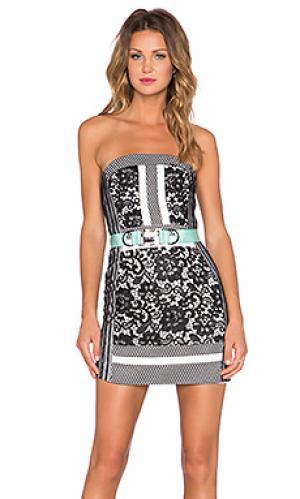 Мини платье wasson Three Floor. Цвет: black & white