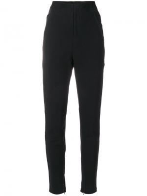 Зауженные брюки с завышенной талией Y-3. Цвет: чёрный