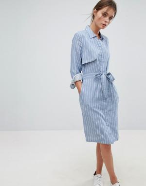 Liquorish Платье в тонкую полоску с вырезом на спине. Цвет: черный