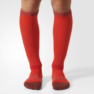 Гетры для бега Energy Compression  Performance adidas. Цвет: красный