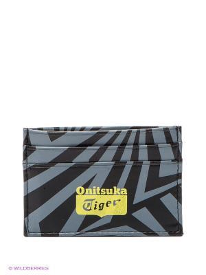 Визитница CARD WALLET ONITSUKA TIGER. Цвет: черный, серый