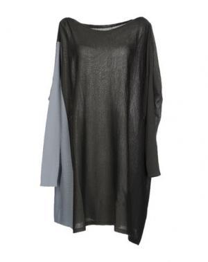 Короткое платье PAOLO ERRICO. Цвет: темно-зеленый