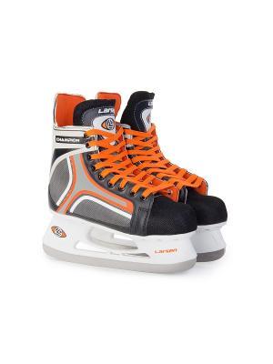 Коньки хоккейные Champion Larsen. Цвет: черный, белый, оранжевый, серый