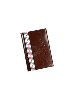 Обложка для паспорта Spark. Цвет: темно-коричневый, антрацитовый