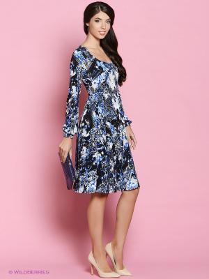 Платье Colambetta. Цвет: синий, молочный, черный