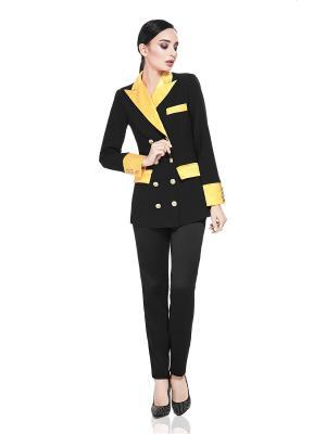 Клубный пиджак Nothing but Love. Цвет: черный,желтый