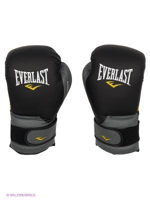 Перчатки тренировочные Ergo Foam Everlast. Цвет: черный