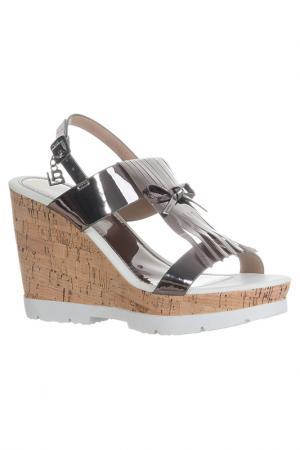 High heels sandals Laura Biagiotti. Цвет: silver