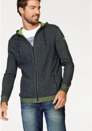 Трикотажная куртка Rhode Island. Цвет: зелено-синий/темно-синий меланжевый, темно-синий/зеленый меланжевый