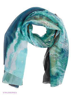 Парео текстильное Vittorio Richi. Цвет: морская волна, серый
