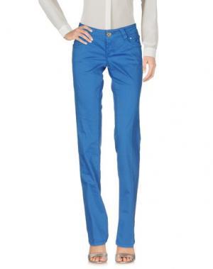Повседневные брюки 9.2 BY CARLO CHIONNA. Цвет: лазурный