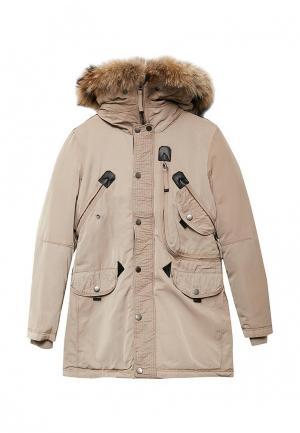 Куртка утепленная Jan Steen. Цвет: бежевый