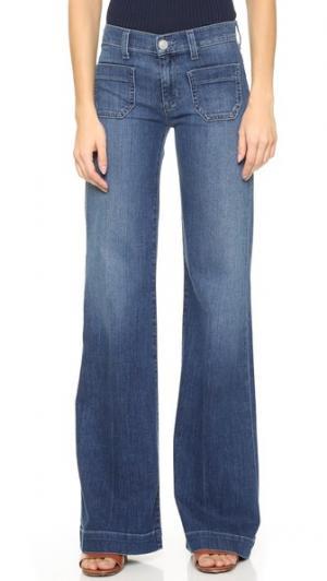 Широкие джинсы Libby в матросском стиле Hudson. Цвет: голубой
