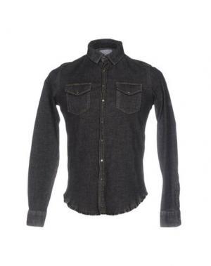 Джинсовая рубашка SAPORE. Цвет: черный