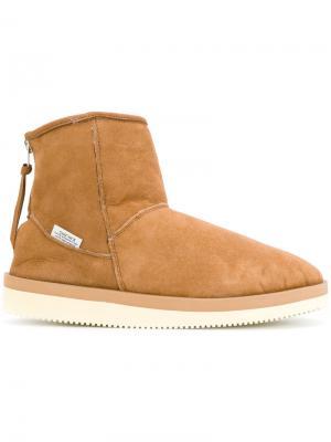 Zipped snow boots Suicoke. Цвет: коричневый