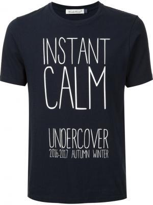Instant Calm T-shirt Undercover. Цвет: чёрный