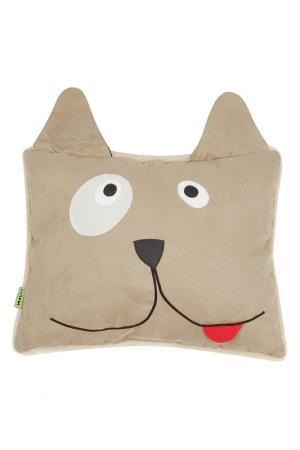 Подушка-игрушка Собачка HOLTY. Цвет: бежевый