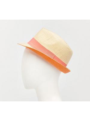 Шляпа Reserved. Цвет: коралловый