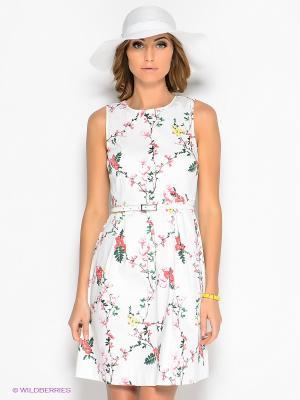 Платье Top Secret. Цвет: белый, зеленый, розовый, желтый