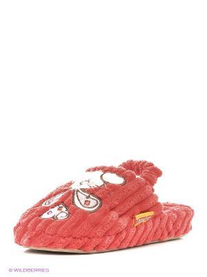 Тапочки детские Dream Feet. Цвет: красный