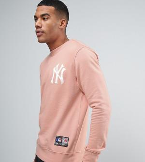 Majestic Свободный свитшот Yankees эксклюзивно для ASOS. Цвет: розовый
