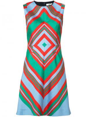 Платье с геометрическим принтом Diane Von Furstenberg. Цвет: зелёный