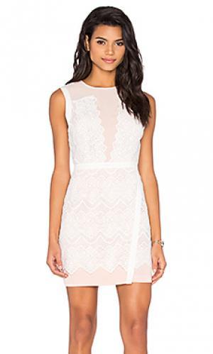 Мини платье lana Greylin. Цвет: белый