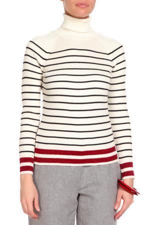 Трикотажная блуза CAROON. Цвет: бежевый