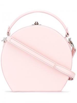 Круглая сумка через плечо Bertoni 1949. Цвет: розовый и фиолетовый