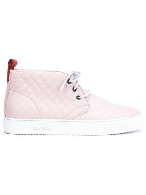 Стеганые хайтопы Del Toro Shoes. Цвет: розовый и фиолетовый