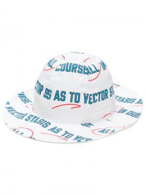 Шляпа с принтом Vector Sacai. Цвет: белый