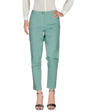 Повседневные брюки VERYSIMPLE. Цвет: светло-зеленый