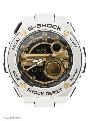 Часы G-Shock GST-210D-9A CASIO. Цвет: золотистый