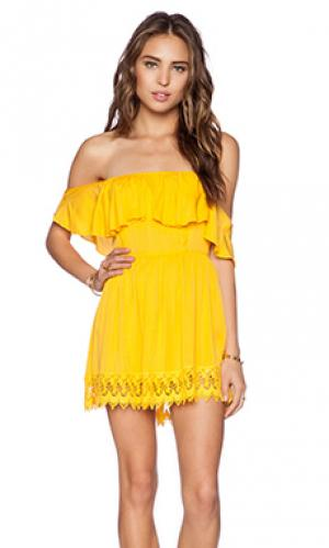 Платье dream vacay Lovers + Friends. Цвет: желтый