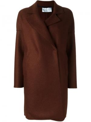 Классическом пальто Harris Wharf London. Цвет: коричневый