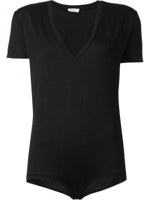 V-neck short sleeved bodysuit Alix. Цвет: чёрный