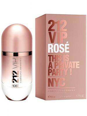 Carolina Herrera 212 Vip Rose lady edp 50 ml. Цвет: розовый