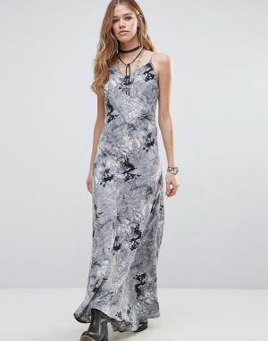 Raga Платье-комбинация Rising Smoke. Цвет: черный