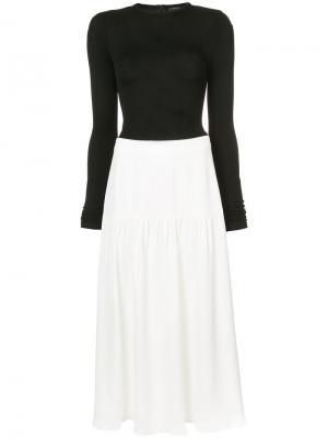 Long Sleeve Colorblocked Dress Derek Lam. Цвет: белый