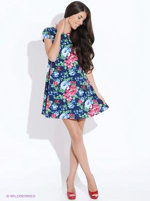 Платье Colambetta. Цвет: синий, зеленый, розовый