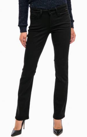 Черные расклешенные брюки из хлопка Mavi. Цвет: черный