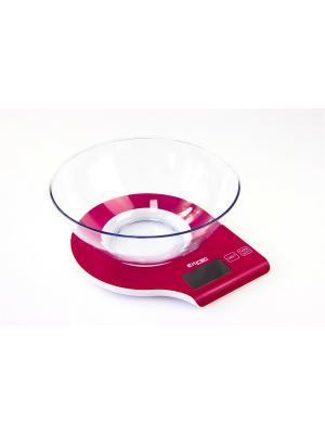 Весы кухонные с чашей ELTRON. Цвет: красный