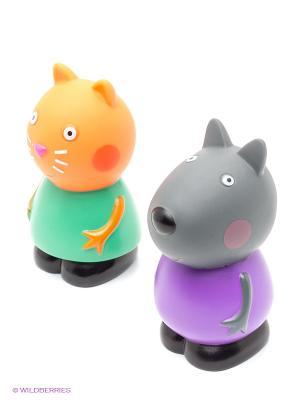 Игровой набор  Кенди и Денни пластизоль Peppa Pig. Цвет: оранжевый, зеленый, серый