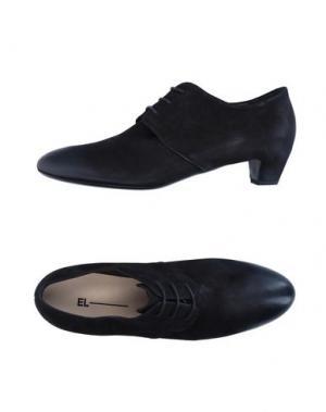 Обувь на шнурках EL. Цвет: черный