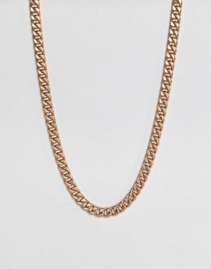 ASOS Золотистое оверсайз-ожерелье. Цвет: золотой